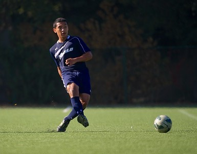 Yohan Mejia scored his first career goal in Monday's 6-0 win. Photo by Brian Byllesby - menlooakssports.com