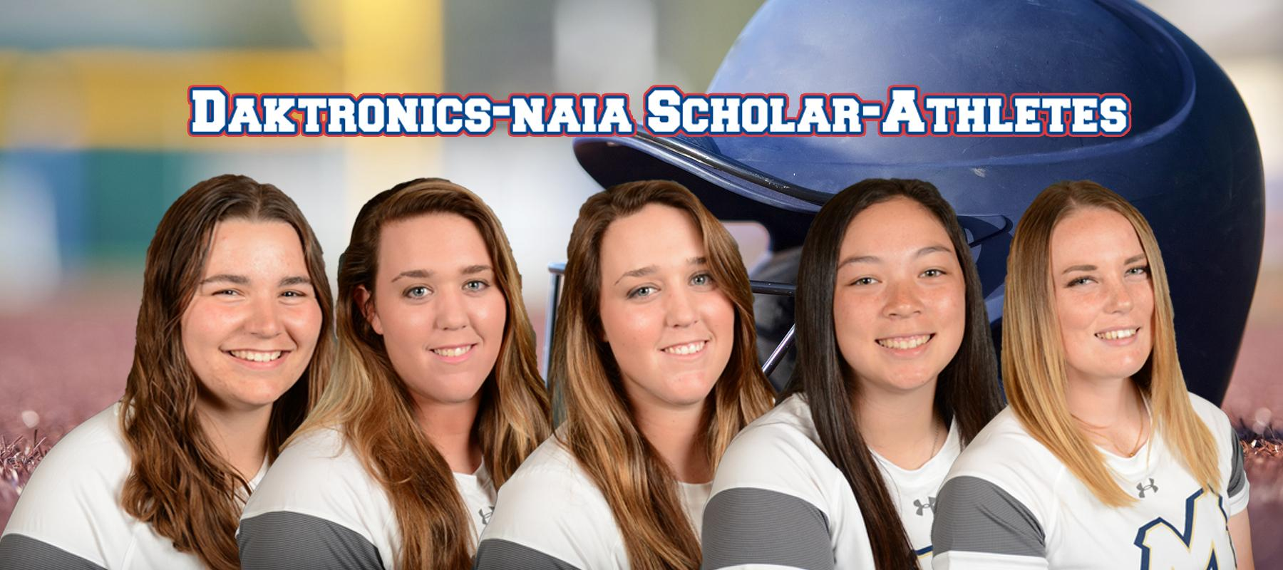 Softball places five on NAIA-Daktronics Scholar-Athlete team