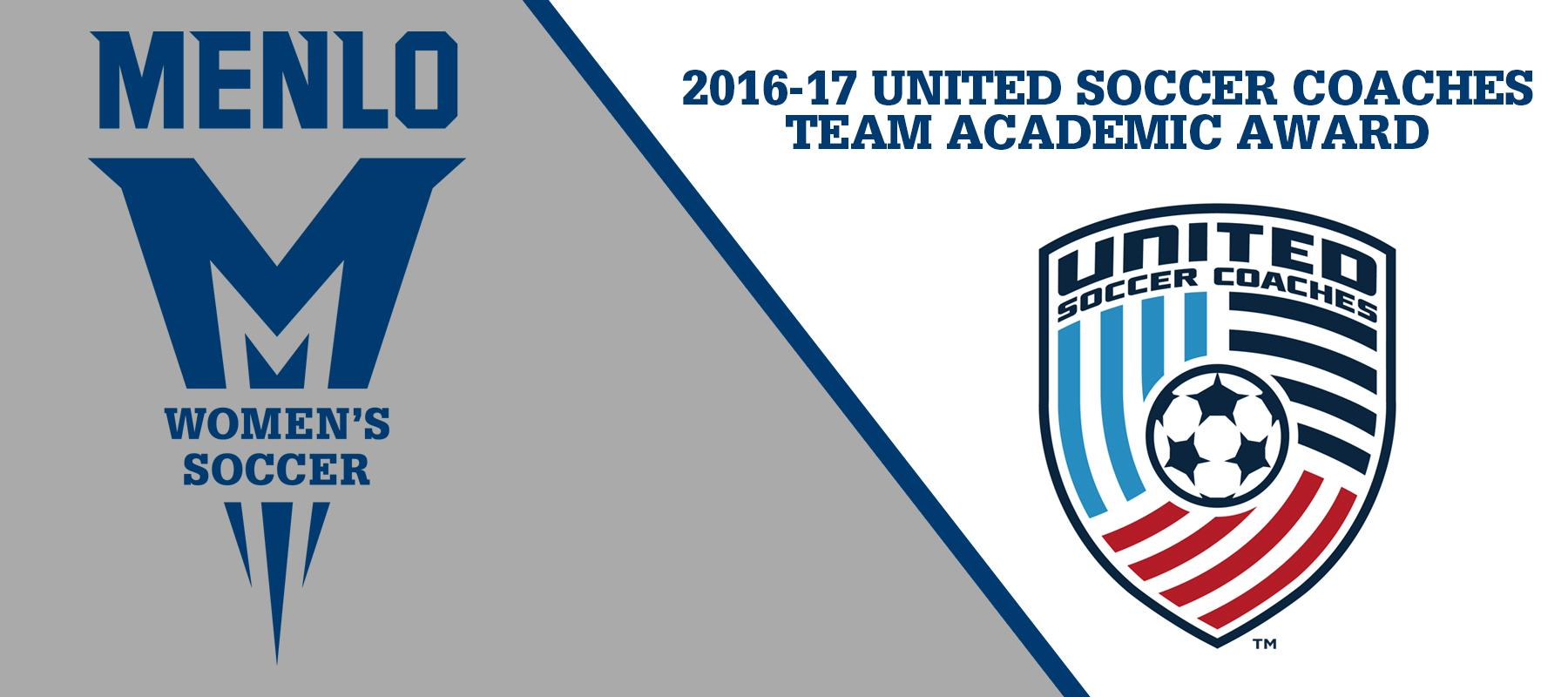 Menlo College Women's Soccer given USCAA Team Academic Award